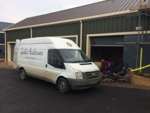 Office move van & chairs