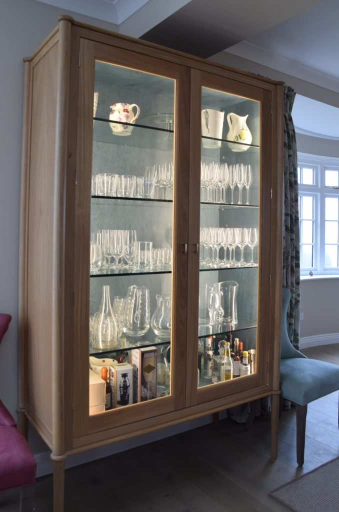 . Glass Display Cabinet  Exceptional Design for a Living Kitchen