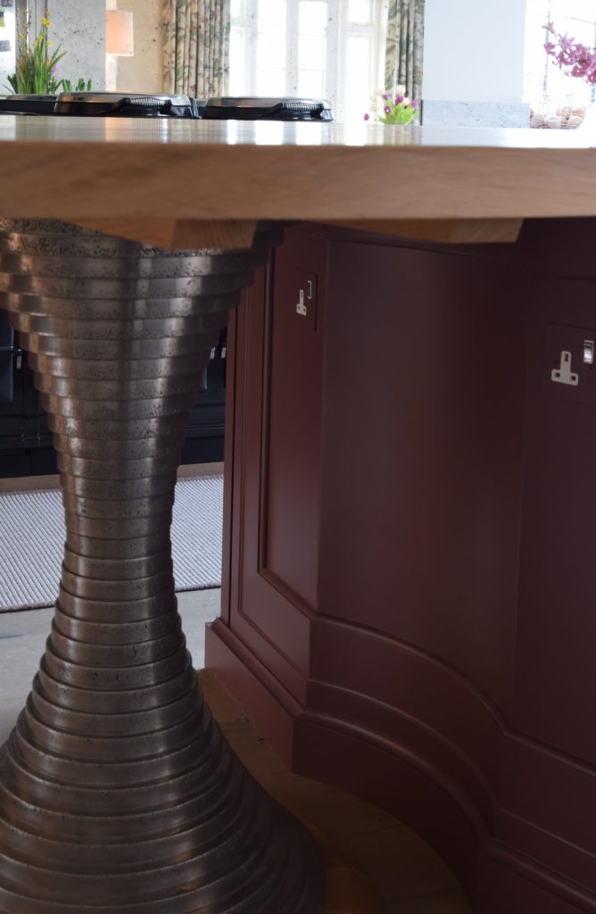 Bespoke Pedestal Breakfast Table Bar Guild Anderson Furniture Workshop