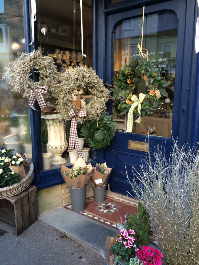 Christmas wreaths at Ted Martin Flowers in Tisbury