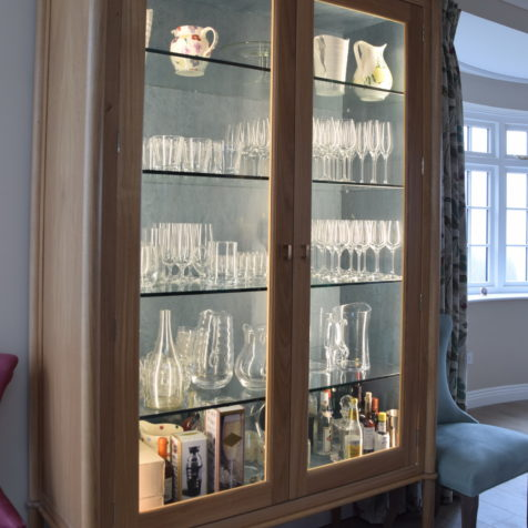 Glass Display Cabinet: Exceptional Design for a Living Kitchen