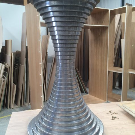 From the Workshop: bespoke pedestal breakfast table by Guild Anderson Furniture